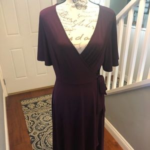 NWT gorgeous plum wrap dress
